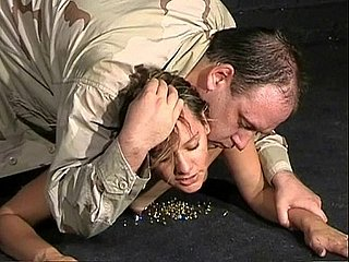 Military bdsm and turpitude of Emma Louise