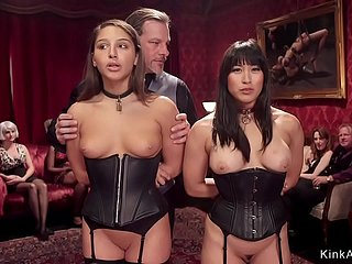 Duteous slaves within reach orgy bdsm party