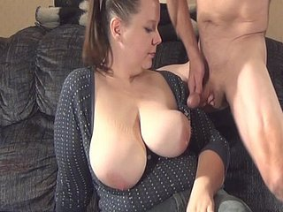 Milf milks economize on of camera