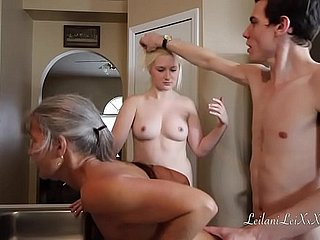 Freeze n Shut Up - A Taboo Family Threesome