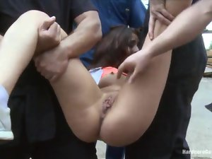 hot pussy brutally gangbanged
