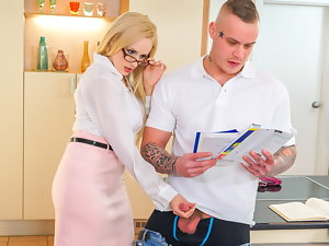 Aberrant TUTOR - Hot MILF Investor Wicky seduces & bangs student