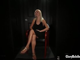 Gloryhole Secrets tow-haired loves hot cum loads