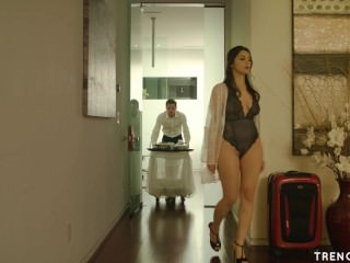 Hot wed Valentina Nappi seduces hammer away bellboy - TRENCHCOATx