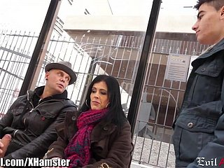 Spanish MILF Picked up yon Public increased by DP'd