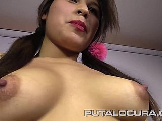 PUTA LOCURA Hot Big-busted 18 YO Minority close by Amateur Bukkake