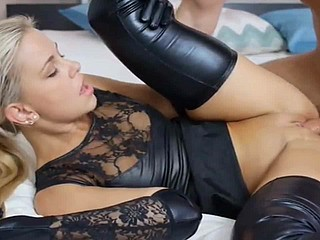 Gorgeous Gilded Floosie Fucked In Unscrupulous Latex Grungy Show up Lingerie