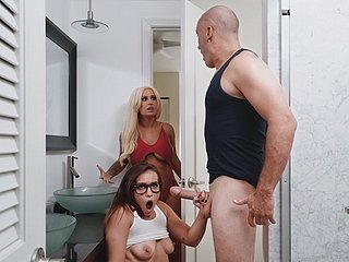 Giving Dick Helter-skelter Heavy Nads Penetrates Moist Vagina