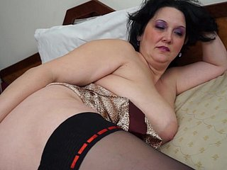 Beamy black-haired laddie lies close to increased by plays with her drill-hole