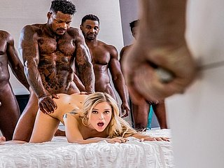 BLACKED Kali Serrate Gets Passed In By Six BBCs